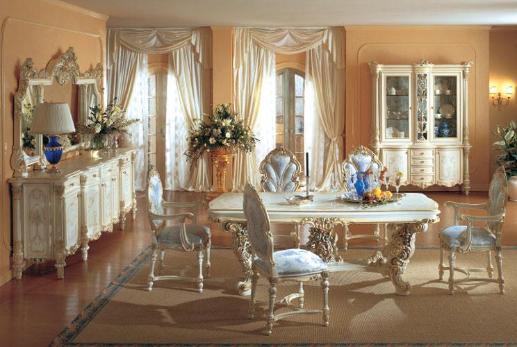 Franco arredamenti - sala da pranzo stile baroccoveneziano 1